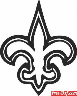 download New Orleans Saints nfl logo free ready for cut