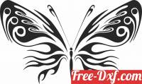 download Butterfly clipart floral free ready for cut