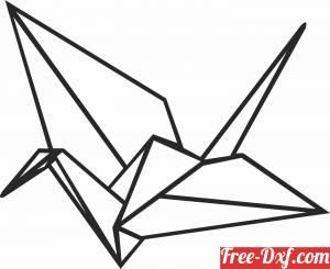 download Geometric Polygon paper bird free ready for cut