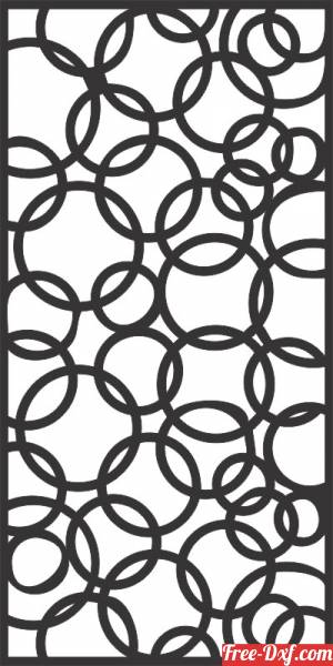 download Circles decorative panel wall separator door pattern free ready for cut