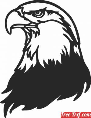 download Bald eagle wall decor free ready for cut