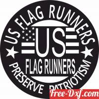 download US Flag Runners logo free ready for cut
