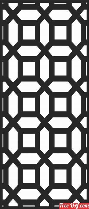 download DECORATIVE pattern  door  screen  Door   wall  Screen free ready for cut