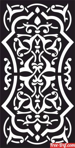 download panel door wall screen pattern free ready for cut