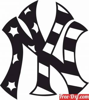 download new york logo with usa flag free ready for cut