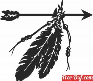 download Feather arrow decor sign free ready for cut