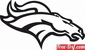 download Denver Broncos logo NFL free ready for cut