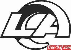 download Los Angeles Rams  American football team logo free ready for cut