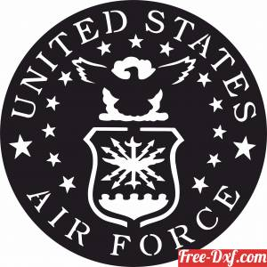 download United states air force army logo free ready for cut