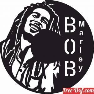 download Bob marley Wall Clock free ready for cut
