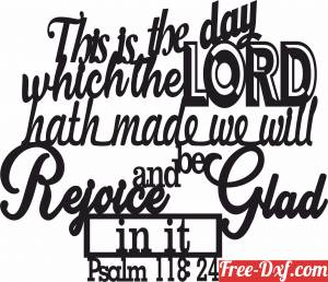 download psalm 118 24 scripture wall decor art free ready for cut