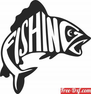 download fish fishing wall sign free ready for cut