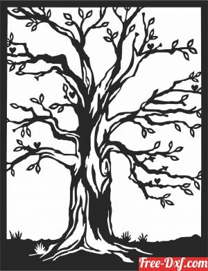 download Tree wall art decor free ready for cut