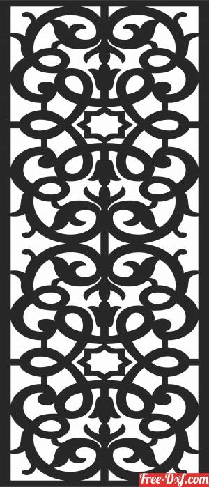 download SCREEN decorative   door Pattern free ready for cut
