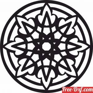 download mandala wall art decor free ready for cut