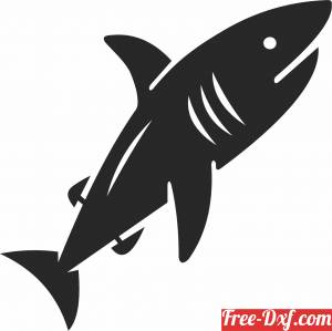 download shark wall design fish clipart free ready for cut