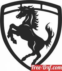download Ferrari car Sign clipart free ready for cut