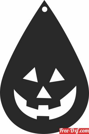 download pumpkin halloween ornament free ready for cut