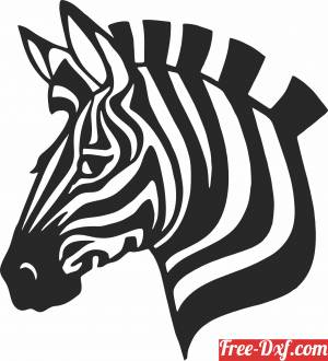 download Zebra head clipart free ready for cut