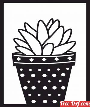 download Succulents Plant pot free ready for cut