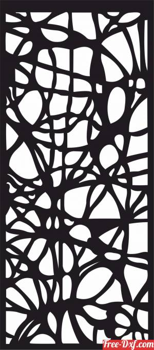 download decorative hanging screen partition door panel pattern free ready for cut