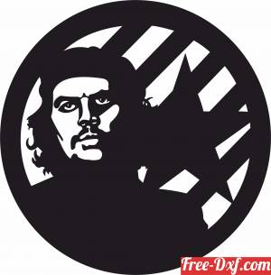 download Che Guevara Wall Clock free ready for cut