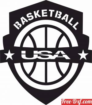 download USA basketball logo free ready for cut
