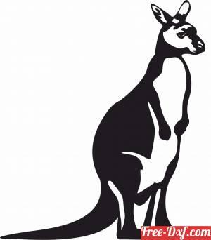 download Australian Kangaroo free ready for cut