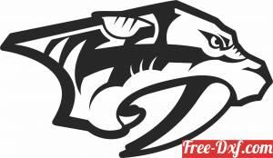 download Nashville Predators ice hockey NHL team logo free ready for cut