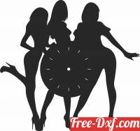 download Wall Clock Vinyl Record free ready for cut