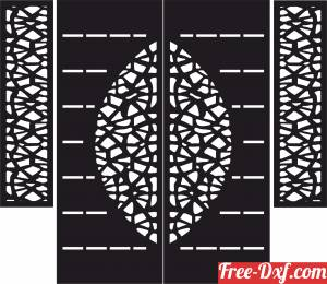 download decorative wall screen door floral partition panel pattern free ready for cut