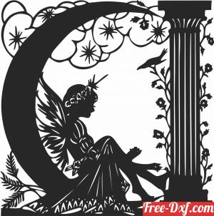 download Fairy art decors free ready for cut