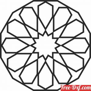 download arabic Decorative pattern free ready for cut