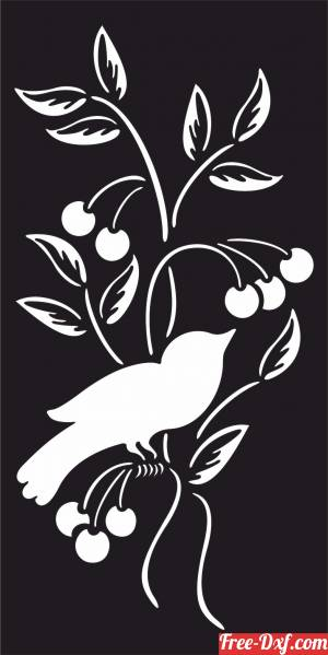 download decorative screen panel with bird free ready for cut