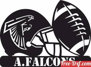 download Atlanta Falcons NFL helmet LOGO free ready for cut