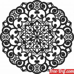 download ornament Decorative mandala pattern free ready for cut