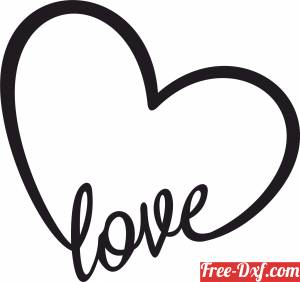 download Heart love sign gift for valentine free ready for cut
