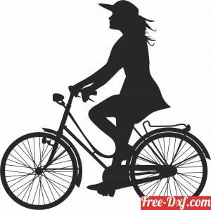 download women on bike free ready for cut