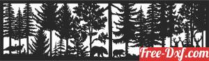 download bears deers forest scene wall decor free ready for cut