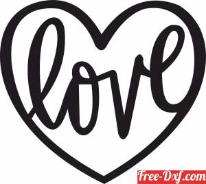download love Sign heart gift for valentines free ready for cut