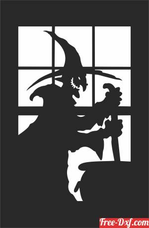 download halloween Witch preparing a potion free ready for cut