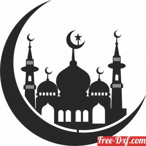 download Mosque wall decor free ready for cut