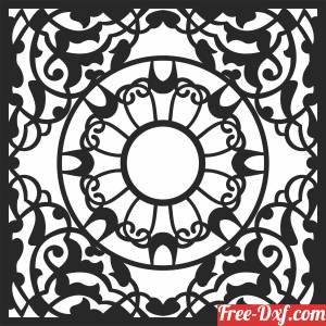 download pattern   Door  WALL   DECORATIVE free ready for cut