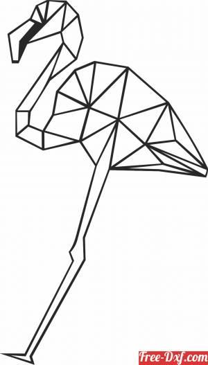 download Geometric Polygon flamingo free ready for cut