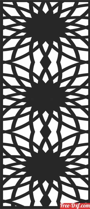 download pattern Screen   Wall  Door   Wall free ready for cut