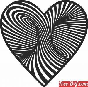 download 3d Heart wall sign free ready for cut