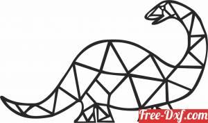 download Geometric Polygon dinosaur free ready for cut