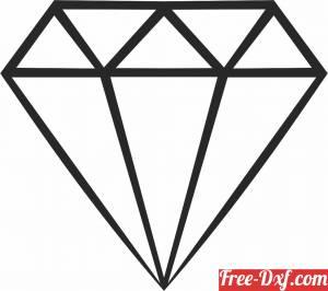 download Geometric Polygon diamond free ready for cut
