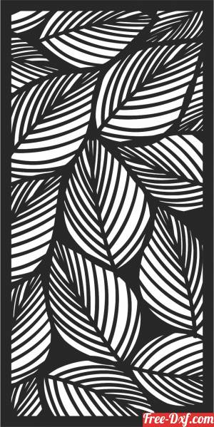 download decorative panel leaves screen pattern art free ready for cut