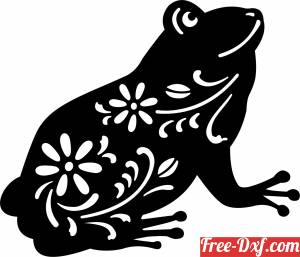 download Flower frog art free ready for cut